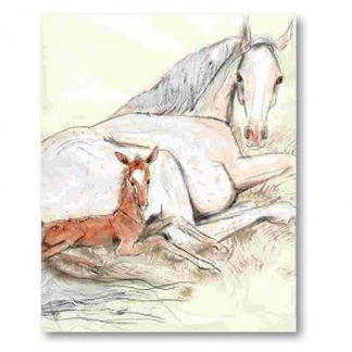 Horse Paintings and Figurines